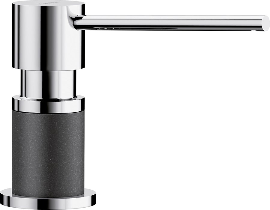 DISTRIBUTEUR DE SAVON LATO ANTHRACITE/CHROME