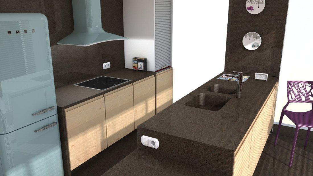 plan de travail quartz silestone marron jupiter easy plan de travail. Black Bedroom Furniture Sets. Home Design Ideas