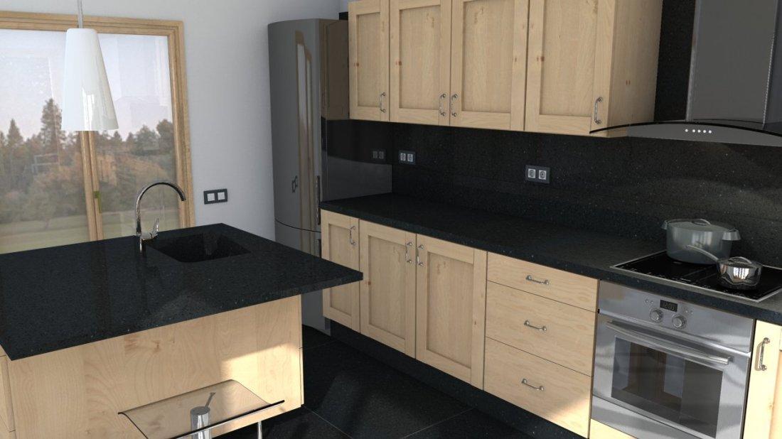 plan de travail quartz silestone negro stellar easy plan de travail. Black Bedroom Furniture Sets. Home Design Ideas