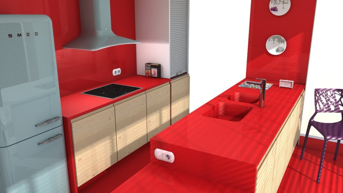 beautiful rosso monza slider rosso monza slider with plan de travail quartz rouge. Black Bedroom Furniture Sets. Home Design Ideas